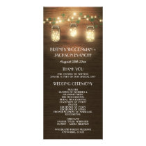 Country Barn Rustic Mason Jar Wedding Programs