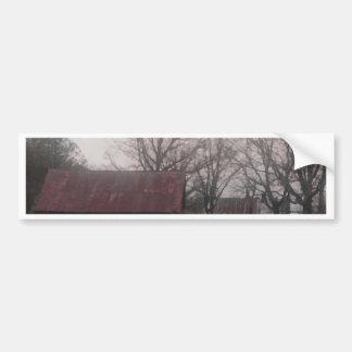 Country Barn Shed Winter Scene Autumn Americana Bumper Sticker