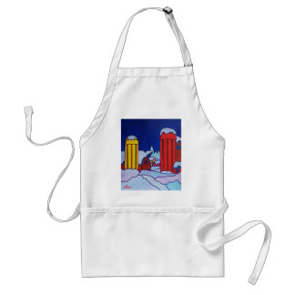 Country Barn Silos Adult Apron