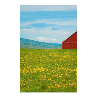 Country Barn Personalized Stationery