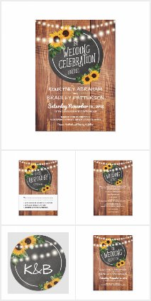 COUNTRY BARN SUNFLOWER WEDDING COLLECTION