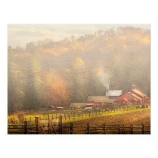 Country - Barn - The end of a season Customized Letterhead