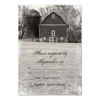 Country Barn Wedding Response Card Invitations