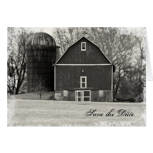 Country Barn Wedding Save the Date Card