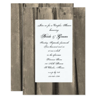 Country Barn Wood Couples Wedding Shower Invite