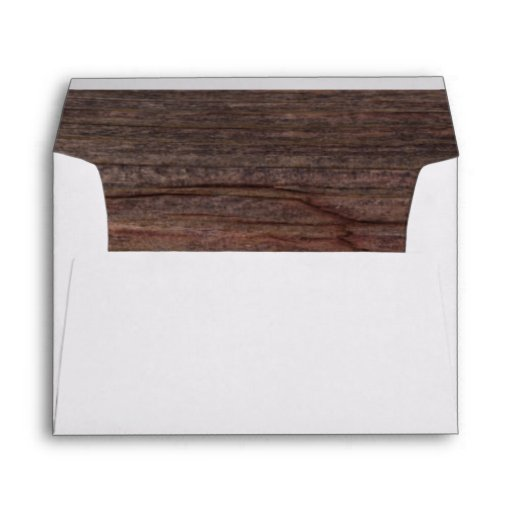 Country Barn Wood Envelope