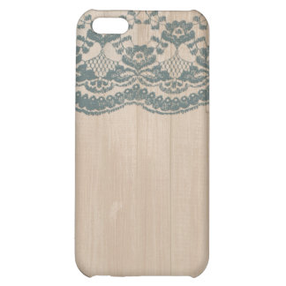 Country Barn Wood & Lace Case For iPhone 5C