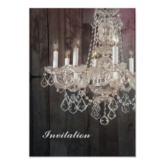Country barn wood Parisian vintage chandelier Card