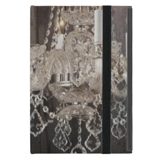 Country barn wood Parisian vintage chandelier iPad Mini Cover