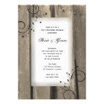 Country Barn Wood Post Wedding Brunch Custom Invite