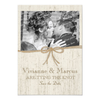 Country Barn Wood Save the Date Card