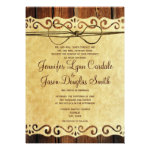 Country Barn Wood Vintage Paper Wedding Invitation