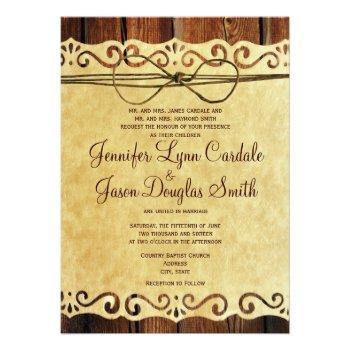 Country Barn Wood Vintage Paper Wedding Invitation