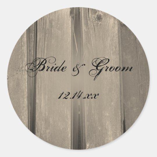 Country Barn Wood Wedding Envelope Seals