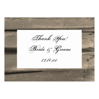Country Barn Wood Wedding Favor Tags Large Business Card