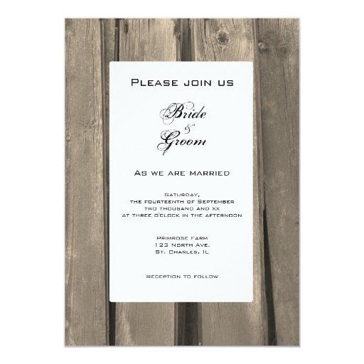 Country Barn Wood Wedding Invitation