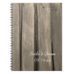 Country Barn Wood Wedding Spiral Notebook
