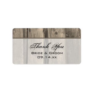 Country Barn Wood Wedding Thank You Label Address Label