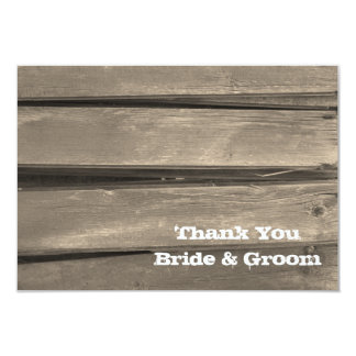 Country Barn Wood Wedding Thank You Note Card