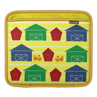 Country Barns on Stripes iPad Sleeve