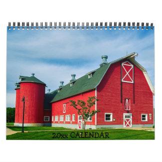 Country Barns Tractors Farms Calendar