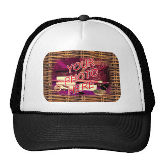 Country Basket Frame Template Trucker Hat