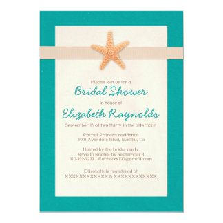 Country Beach Destination Bridal Shower Invitation Card