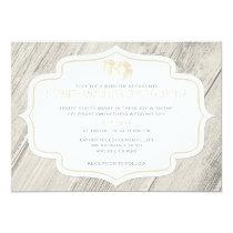 Country Beach Sand Dollar Wedding Invitations