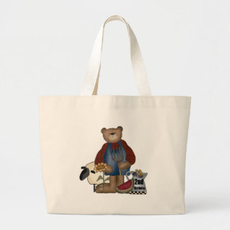 Country Bear 2nd Birthday Gifts Large Tote Bag