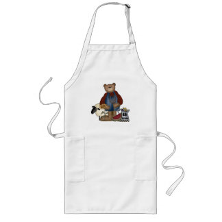 Country Bear 4th Birthday Gifts Long Apron