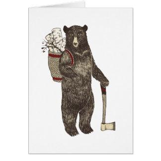 Country Bear Christmas Card