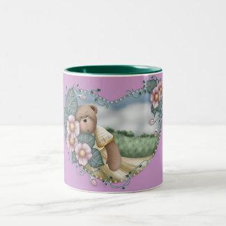 Country Bear in a Heart Mug
