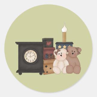 Country Bears Round Stickers Round Sticker