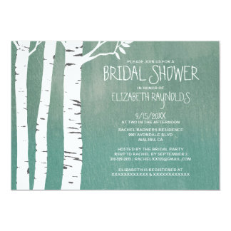 Country Birch Tree Bridal Shower Invitations