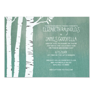 Country Birch Tree Wedding Invitations Invite