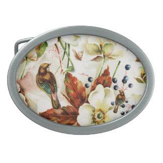 Country bird garden monogram girly belt buckles