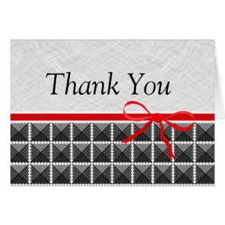 Country Black and White Wedding Thank You Cards