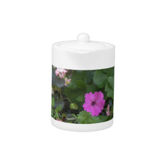 country blossoms teapot