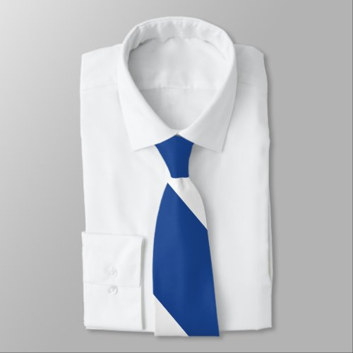Country Blue and White Broad University Stripe Neck Tie