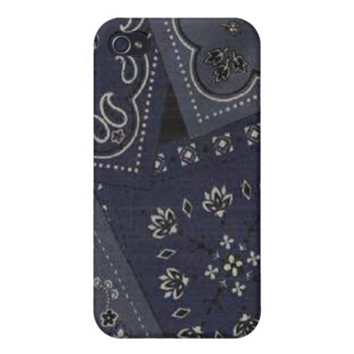Country Blue Bandana Speck Case iPhone 4 Cases For iPhone 4