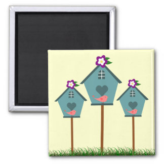 Country Blue Birdhouses Magnet