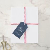 Country Blue Denim and Gingham Pattern Gift Tags