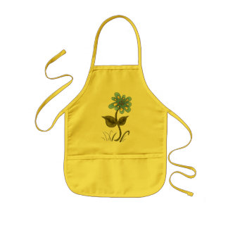 Country Blue Flower Kids' Apron