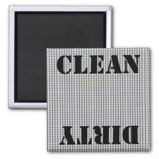 Country Blue Gingham Checks 2 Inch Square Magnet
