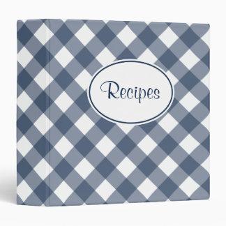 Country Blue Gingham Recipe Binder