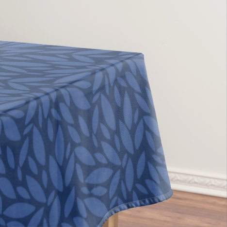 Country blue leaf design tablecloth