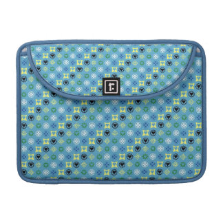 COUNTRY BLUE STRIPES PATTERN FLORAL DOTS TEXTURES MacBook PRO SLEEVE