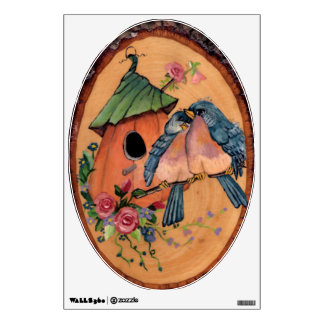 Country Bluebirds Wall Decal