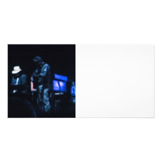 Country Blues Musicians Shadowy Impression Card