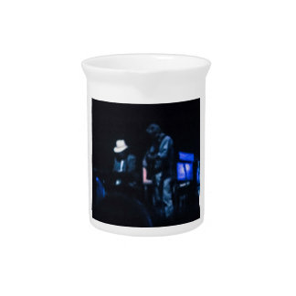 Country Blues Musicians Shadowy Impression Drink Pitchers